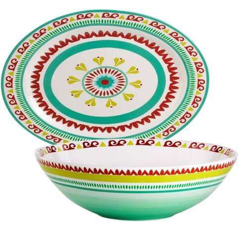 Euro Ceramica Alecante 2-piece Serving Set, Platter and Bowl