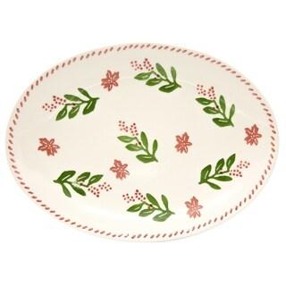 Euro Ceramica Natal Medium Oval Platter