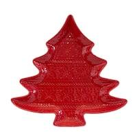 Euro Ceramica Natal Tree Platter