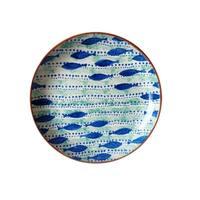 Euro Ceramica Pescador 15-inch Round Coupe Platter