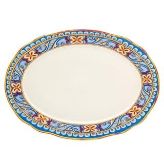 """Euro Ceramica Duomo 18"""" Oval Platter"""
