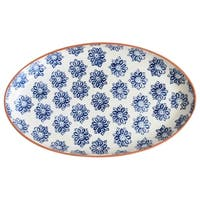 Euro Ceramica Azul Tile 19-inch Oval Coupe Platter