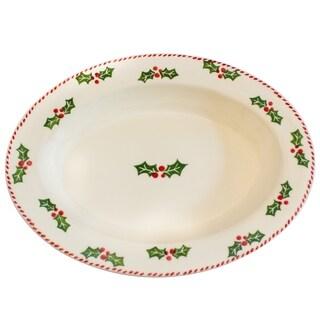 Euro Ceramica Natal Large Oval Platter