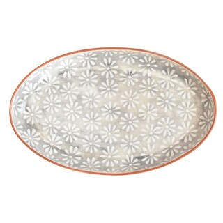 Euro Ceramica Margarida 19-inch Oval Coupe Platter