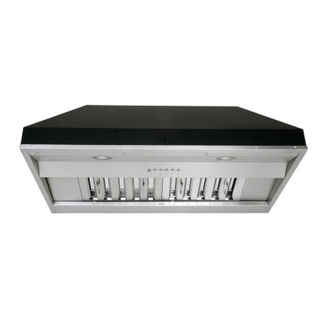 KOBE IN26 SQB-650-5A Deluxe 30 or 36-inch Built-In/ Insert Range Hood, 6-Speed, 700 CFM, LED Lights, Baffle Filters