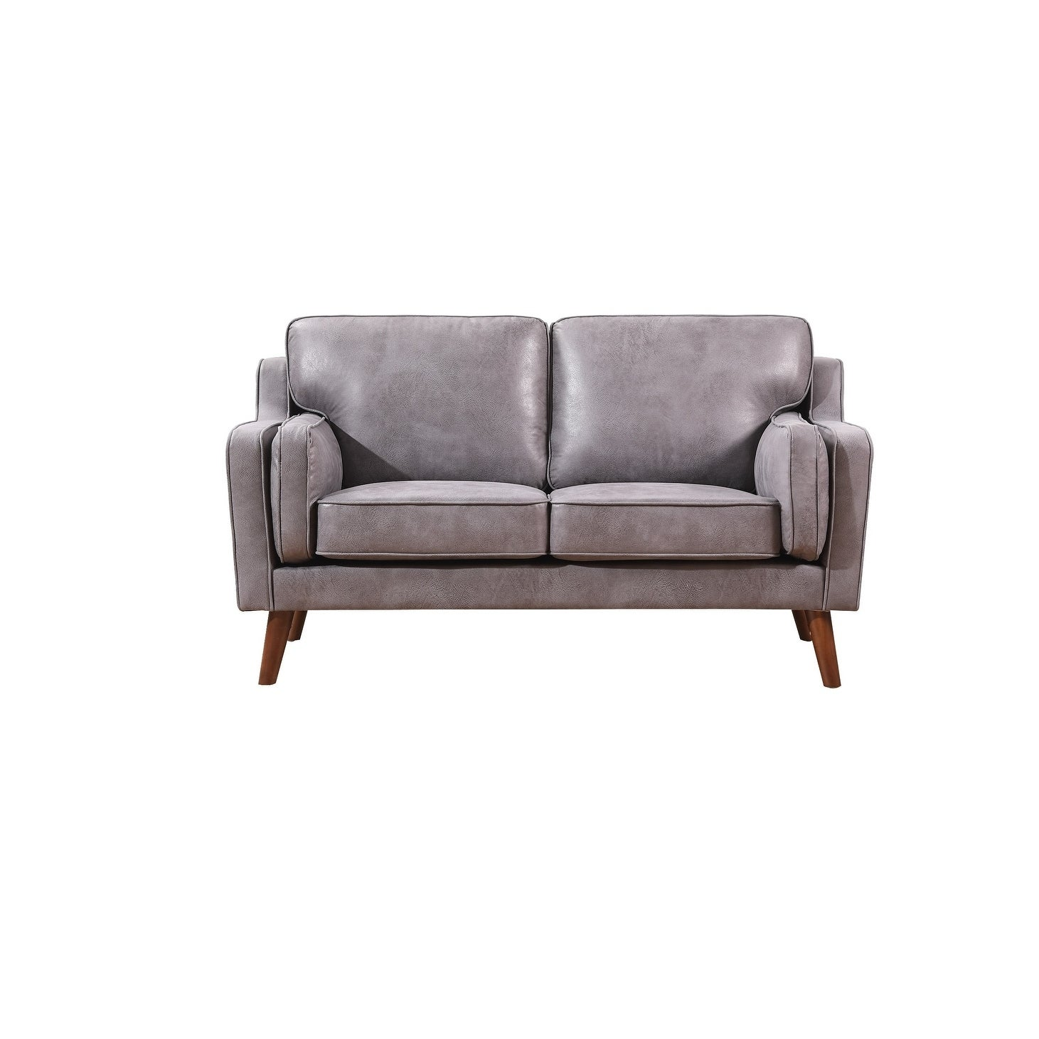 Jenny Mid Century Air Leather Fabric Loveseat