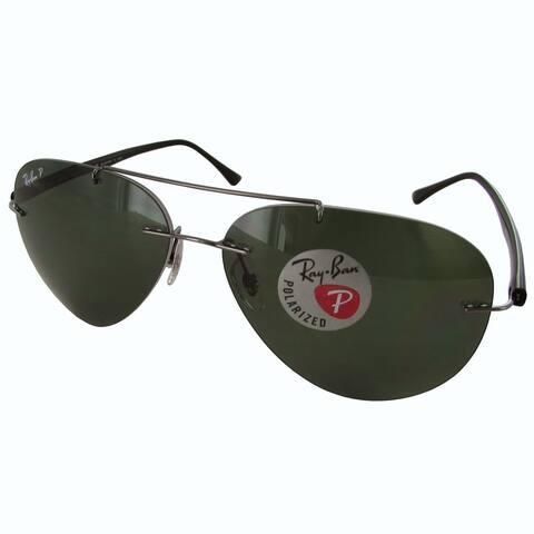 Ray-Ban Polarized RB8058 Mens Gunmetal Frame Polarized Green Classic G-15 Lens Sunglasses