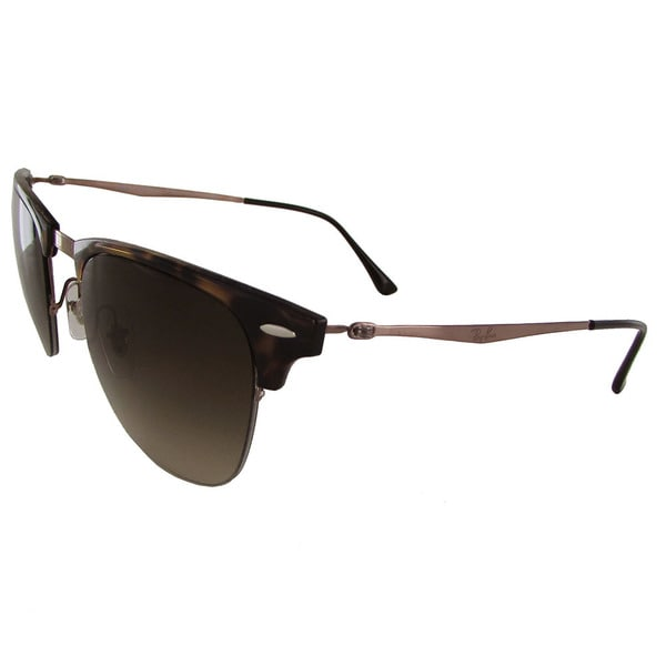 0fab600a2 Shop Ray-Ban Clubmaster Light Ray RB8056 Mens Brown Frame Brown Lens  Sunglasses - Free Shipping Today - Overstock - 19685003