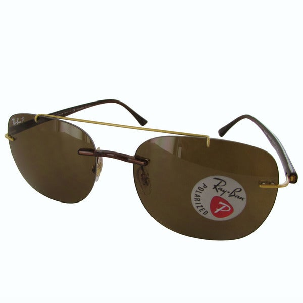 Ray-Ban Liteforce Polarized RB4280 Mens Brown Frame Brown Classic B-15 Lens  Sunglasses 2efc252915a3