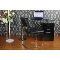 Best Master Furniture Modern Glass Writing Desk
