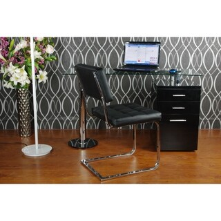 Best Master Furniture Modern Glass Writing Desk (2 options available)