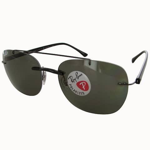 Ray-Ban Liteforce Polarized RB4280 Mens Black Frame Green Classic G-15 Lens Sunglasses