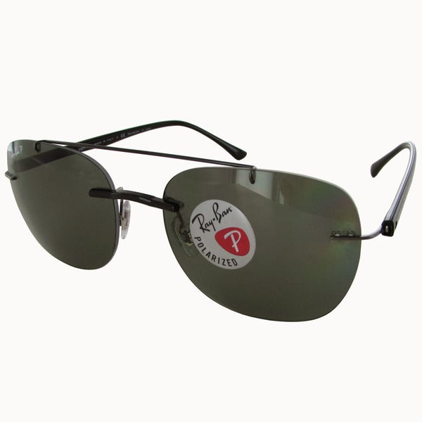 1b63a853ea Ray-Ban Liteforce Polarized RB4280 Mens Black Frame Green Classic G-15 Lens  Sunglasses