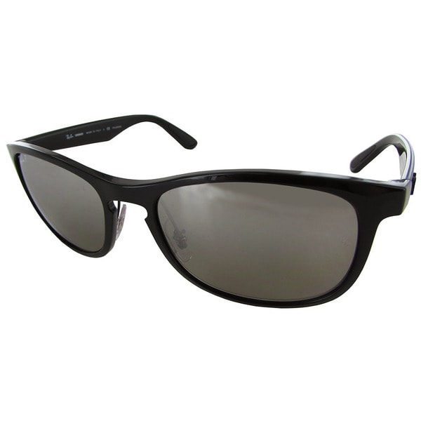 5bce79d3ca Ray-Ban Chromance RB4263 Mens Black Frame Silver Lens Sunglasses. Click to  Zoom