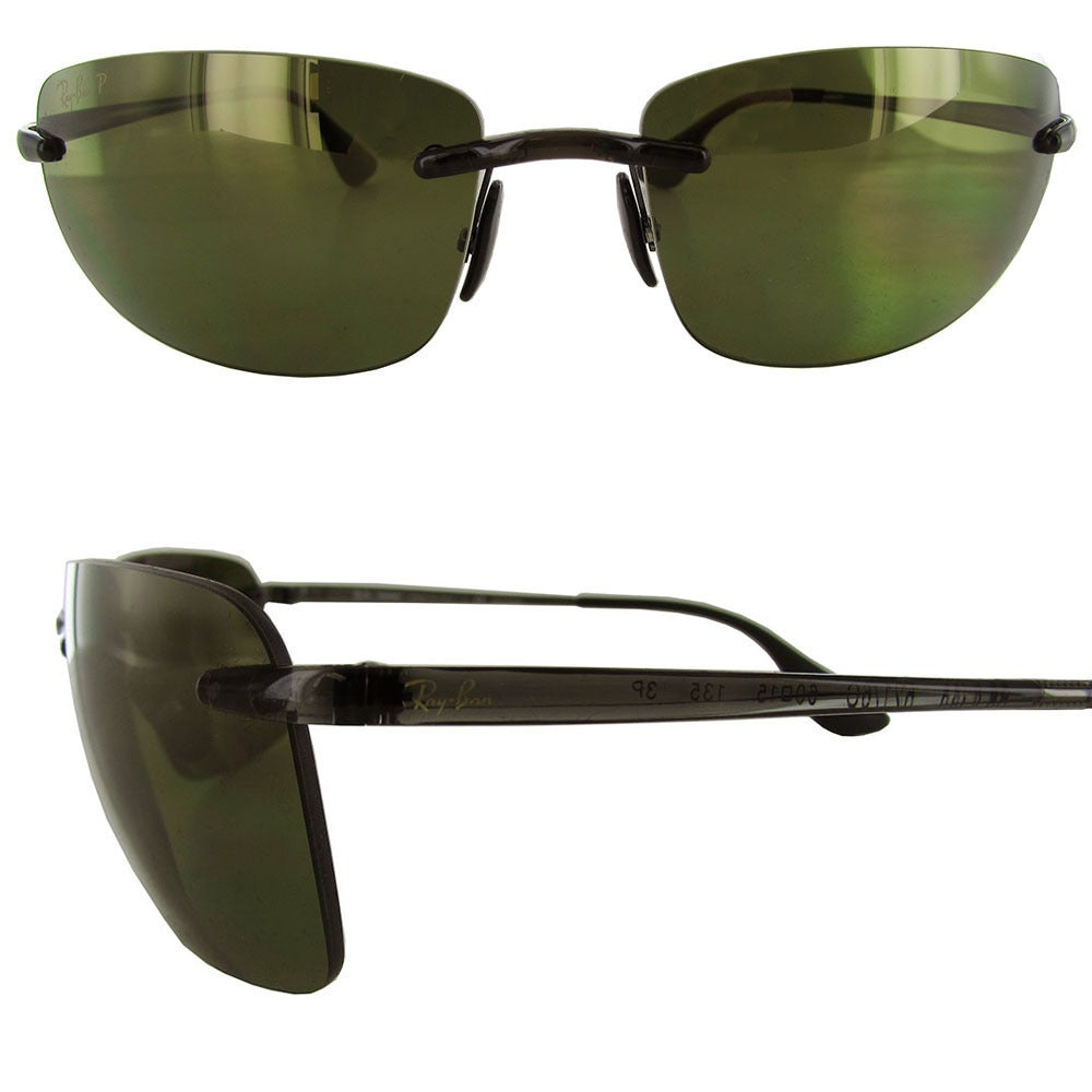 3255372b80 Shop Ray-Ban Chromance RB4254 Mens Grey Frame Green Lens Sunglasses - Free  Shipping Today - Overstock - 19685191