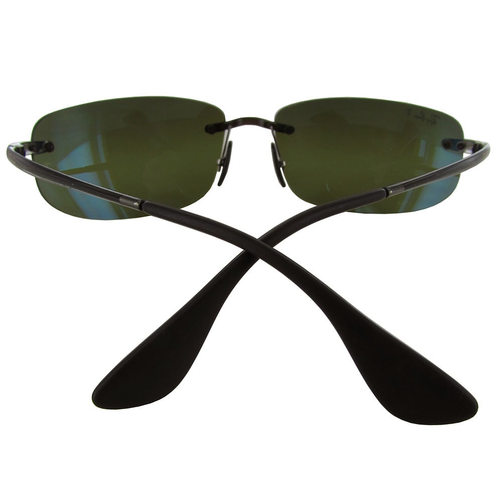 cde49006a3 Shop Ray-Ban Chromance RB4254 Mens Grey Frame Green Lens Sunglasses - Free  Shipping Today - Overstock - 19685191