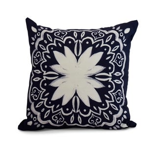 16 x 16 Inch Cuban Tile 1 Geometric Print Pillow (Option: Purple)