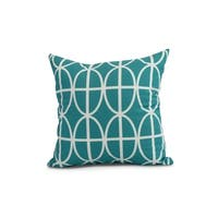 16 x 16 inch Ovals and Stripes Geometric Print Pillow