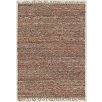 Linon Verginia Berber Collection Multicolored Wool Hand-woven Rug - 7'10 x 10'4