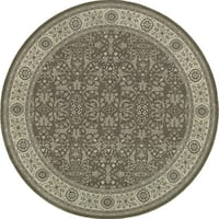 Style Haven Updated Persian Traditional Oriental Grey/Ivory Round Rug - 7'10