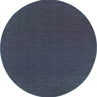 Style Haven Navy/Grey Distressed Stripe Area Rug - 8'