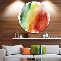 Designart 'Color Explosion' Abstract Glossy Large Disk Metal Wall Art