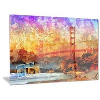 Designart 'San Francisco Bridge' Contemporary Metal Wall Art