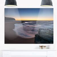 Sunrise at Sydney Over Sea - Seashore Glossy Metal Wall Art