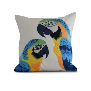 20 x 20 Inch Macaw Close Up Animal Print Pillow