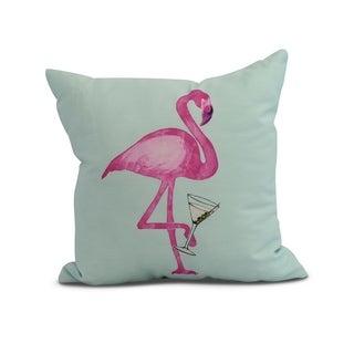 20 x 20 inch Single Flamingo Animal Print Pillow