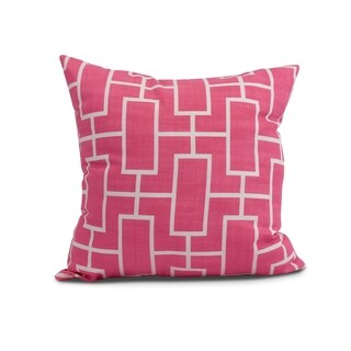 20 x 20 inch Screen Lattice Geometric Print Pillow (Fucshia)