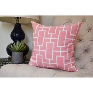 20 x 20 inch Screen Lattice Geometric Print Pillow (Coral)