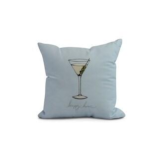 20 x 20 inch Martini Glass Happy Hour Geometric Print Pillow