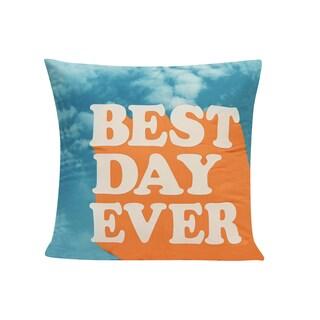 Best Day Throw Pillow