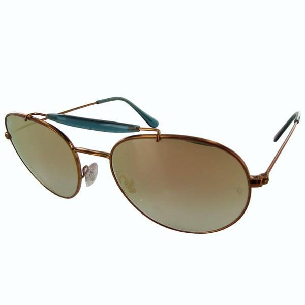 198657b674 Ray-Ban Aviator RB3540 Mens Bronze Frame Copper Gradient Flash Lens  Sunglasses