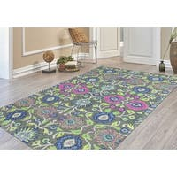 "Hand-Tufted Athena Olive Blended New Zealand Wool Rug - 7'6"" x 9'6"""