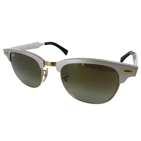 f65ba2beaa9 Ray-Ban Clubmaster Aluminum RB3507 Womens Silver Frame Green Lens Sunglasses