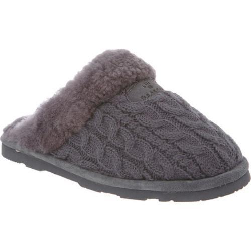 Shop Womens Bearpaw Effie Solids Slipper Charcoal Cable Knit On