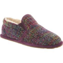 Women's Bearpaw Alana Slipper Plum Wool/Suede