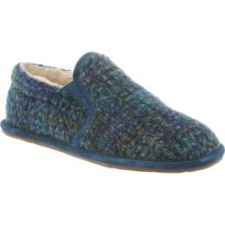 Women's Bearpaw Alana Slipper Slate Blue Wool/Suede