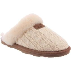 Women's Bearpaw Effie Solids Slipper Linen Cable Knit (More options available)