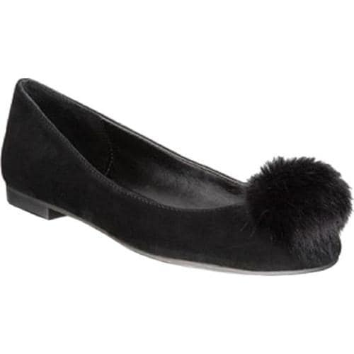 2e710afed006 Shop Women s Charles by Charles David Danni Flat Black Microsuede Faux Fur  - Free Shipping Today - Overstock.com - 17572829