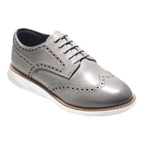 Women's Cole Haan GrandEvolution Wingtip Oxford Ironstone Leather/Ivory