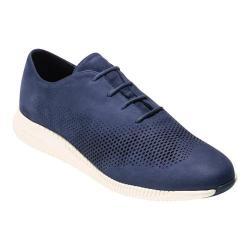 Women's Cole Haan 2.ZeroGrand Laser Wingtip Sneaker Marine Blue Nubuck/Ivory