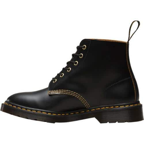 Cannone soprannome Pizza  Shop Dr. Martens 101 6-Eye Boot Black Vintage Smooth Leather - Overstock -  17573235
