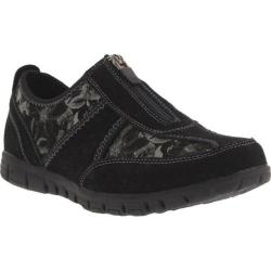 Women's Spring Step Mitzy Sneaker Black Suede