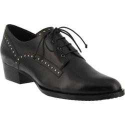 Women's Spring Step Pabla Oxford Black Leather