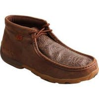 Women's Twisted X Boots Driving Moc Chukka Boot Brown/Brown Print Leather