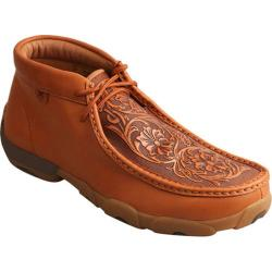 Men's Twisted X Boots MDM0061 Driving Mocs Chukka Boot Tan/Tooled Flowers Leather