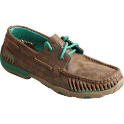 Women's Twisted X Boots WDM0083 Driving Moc Bomber/Turquoise Leather